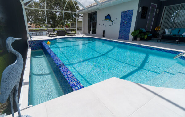 Porcelain Paver Pool Deck in Cape Coral