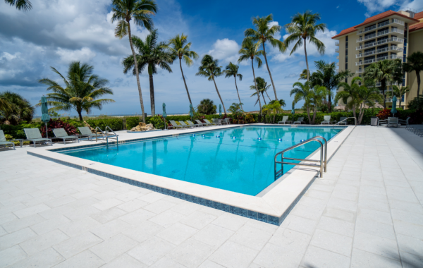 Commercial Pool Deck Remodel on Marco Island
