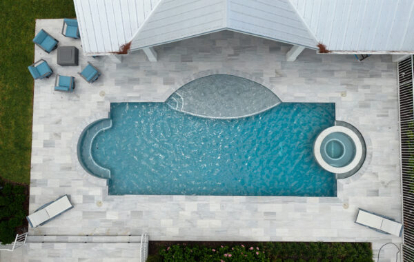 New Natural Stone Pool Deck, Lanai & Outdoor Living Space